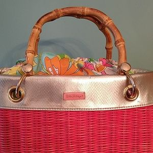 Lilly Pulitzer Bags - Lilly Pulitzer Garden Party Basket Bag